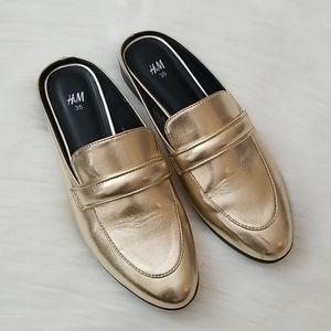 H&M Gold Mules!